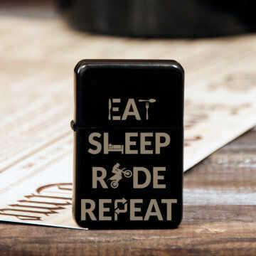 Eat, sleep, ride - Zapalniczka z grawerem