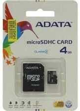 Karta pamięci MicroSDHC ADATA 4GB Class 4 + adapter (AUSDH4GCL4-RA1)