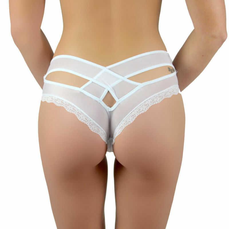 Figi damskie seksowne wycięcia tył LOREEN Beauty Senses BS001093