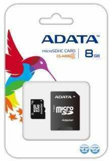 Karta pamięci MicroSDHC ADATA 8GB + adapter (AUSDH8GCL2-RA1 )