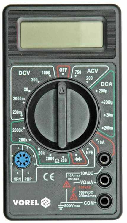 Cyfrowy miernik uniwersalny Vorel 81780 - ZYSKAJ RABAT 30 ZŁ