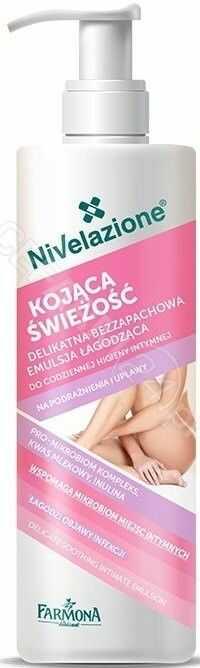 Nivelazione Delikatna bezzapachowa emulsja łagodząca do codziennej higieny intymnej 250ml