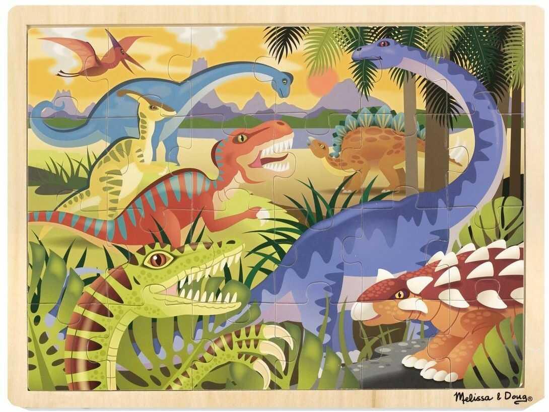 Melissa & Doug 19066 Doug dinozaur puzzle, wielokolorowe