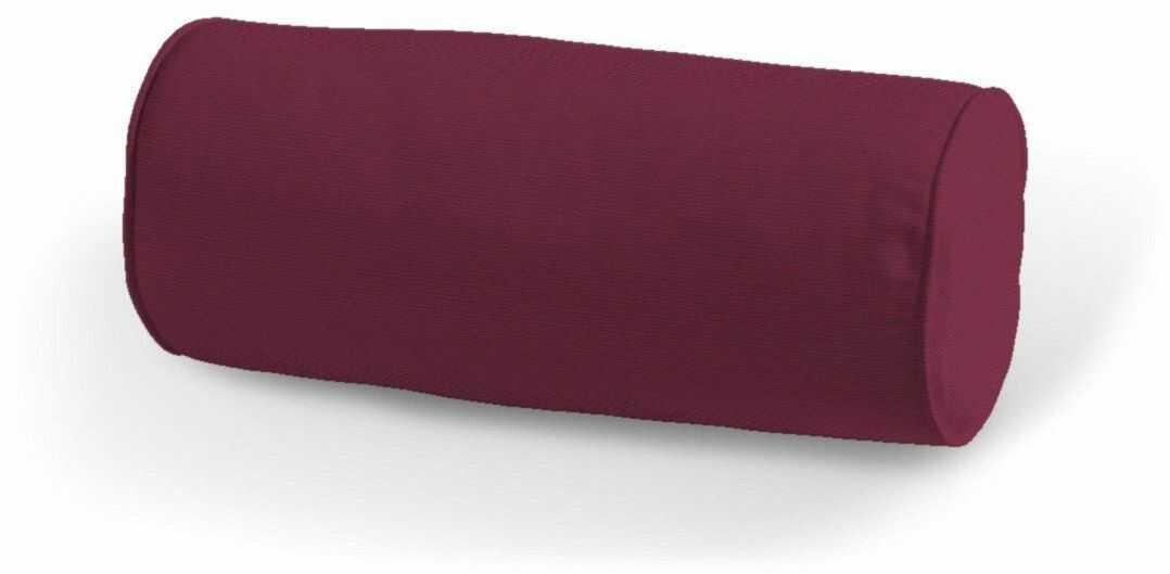 Poduszka wałek prosty, Plum (śliwkowy), Ø16  40 cm, Cotton Panama