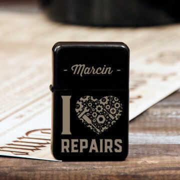 I love repairs - Zapalniczka z grawerem