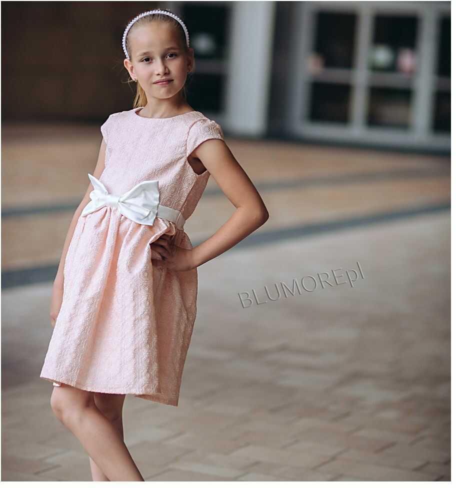 Sukienka na wesele dla dziewczynki 74 - 158 Laura łososiowa