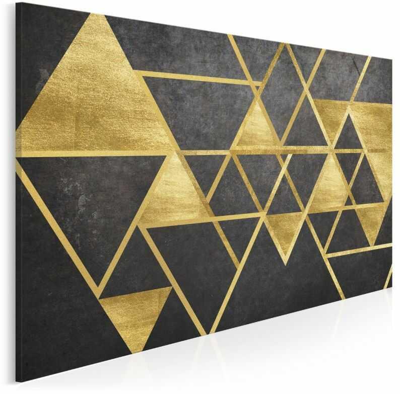 Szlachetny blask - nowoczesny obraz na płótnie - 120x80 cm