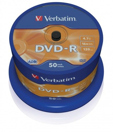 DVD-R verbatim 4.7GB 16x cake 50 szt