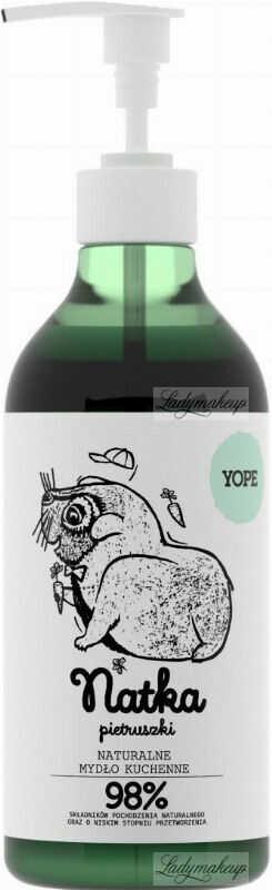 YOPE - NATURALNE MYDŁO KUCHENNE - Natka Pietruszki - 500 ml
