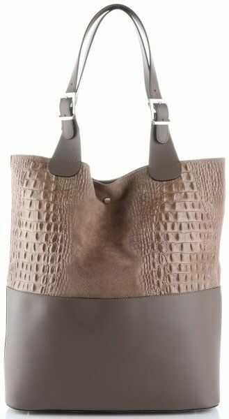Damskie Torebki Skórzane ShopperBag firmy Genuine Leather Ziemiste (kolory)