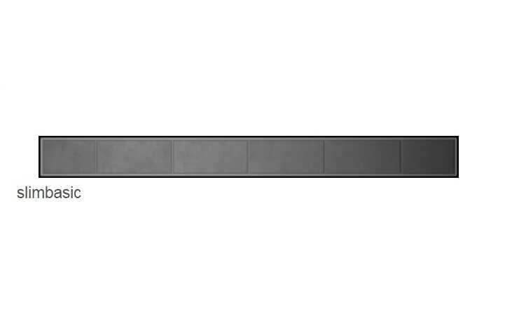 Radaway Slim Basic odpływ liniowy 85x6cm 5L085S/5R085SB