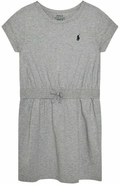 Polo Ralph Lauren Sukienka codzienna Play 313837203004 Szary Regular Fit