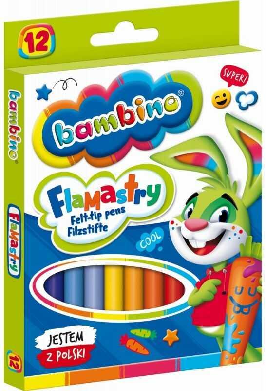 Flamastry Bambino 12 kolorów 5001604
