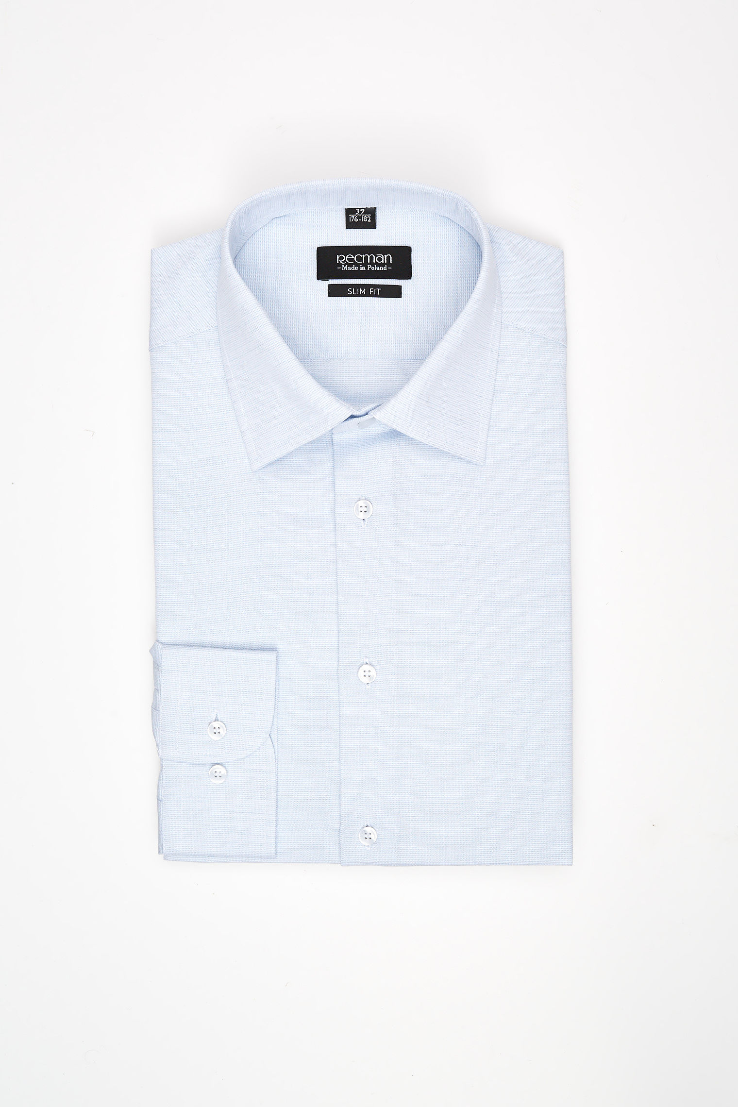 koszula corsini 2993 długi rękaw slim fit błękit