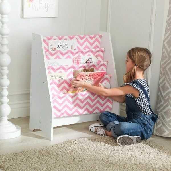 Różowo-białe barwy regał na książki 14233-KidKraft - meble dla dzieci