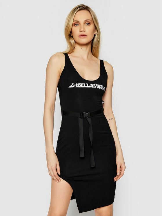 Sukienka codzienna 22308 Czarny Slim Fit