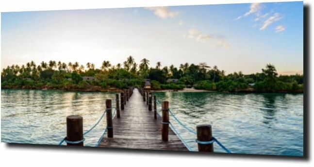 obraz na szkle Widok na Zanzibar z pomostu