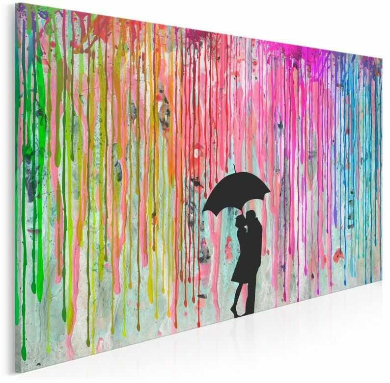 Miłosny azyl - nowoczesny obraz na płótnie - 120x80 cm