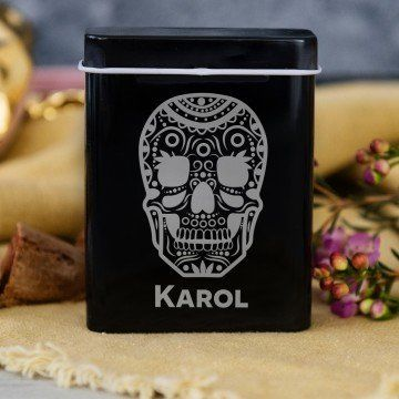 Meksykańska czaszka - etui na papierosy z grawerem