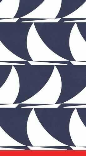 Entertaining with Caspari ''Sail Away'' papierowe ręczniki dla gości, opakowanie 15 sztuk, granatowe, 11 x 20 x 3 cm