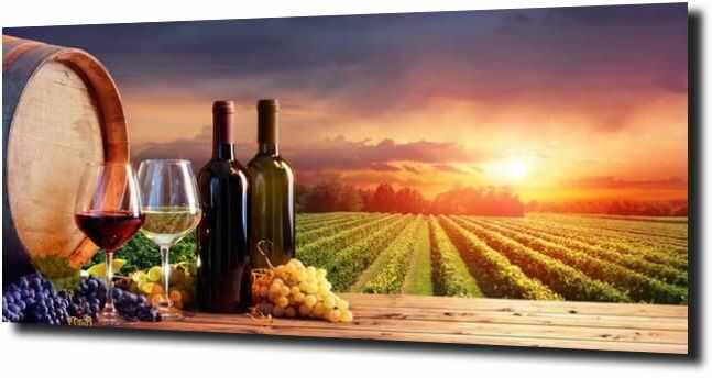obraz na szkle Włochy pole łąka natura wino