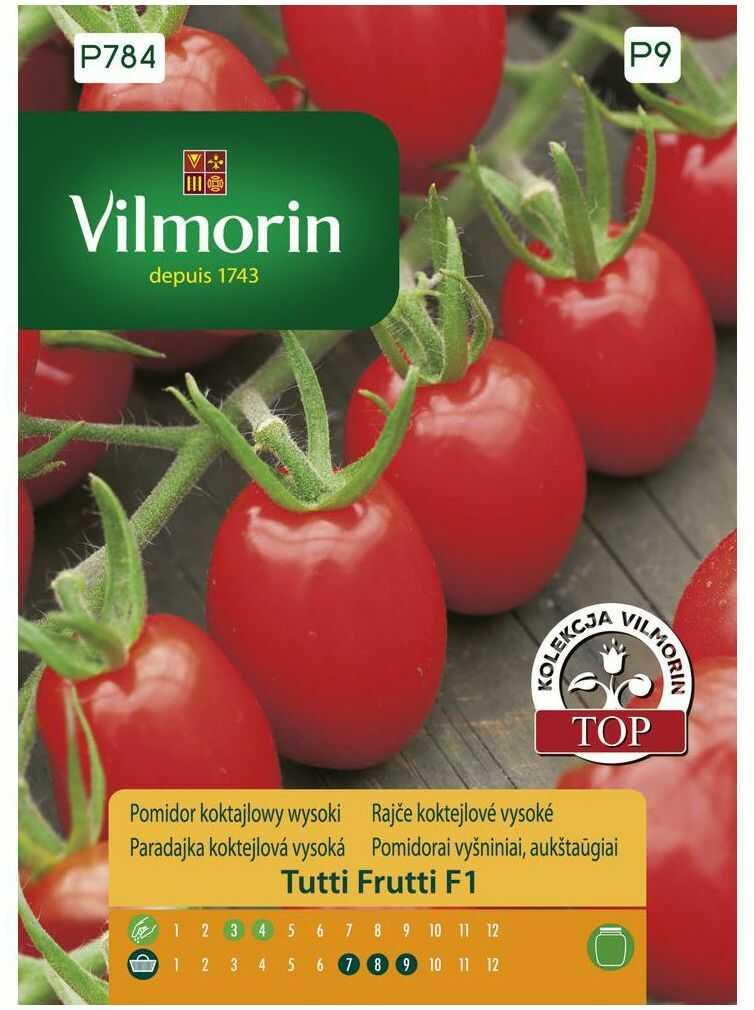 Pomidor koktajlowy wysoki TUTTI FRUTTI nasiona tradycyjne 7 szt. VILMORIN