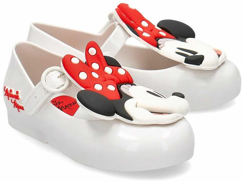 Melissa Sweet Love + Minnie - Baleriny Dziecięce - 32733 01177 - Biały