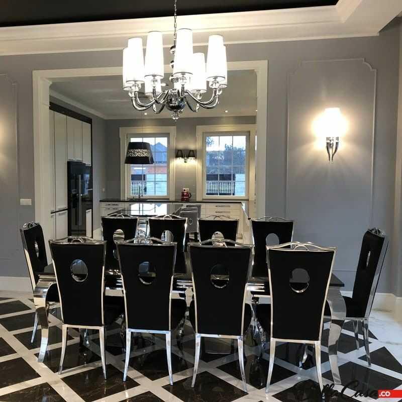 Krzesło glamour Luxury Black - nowoczesne krzesło tapicerowane