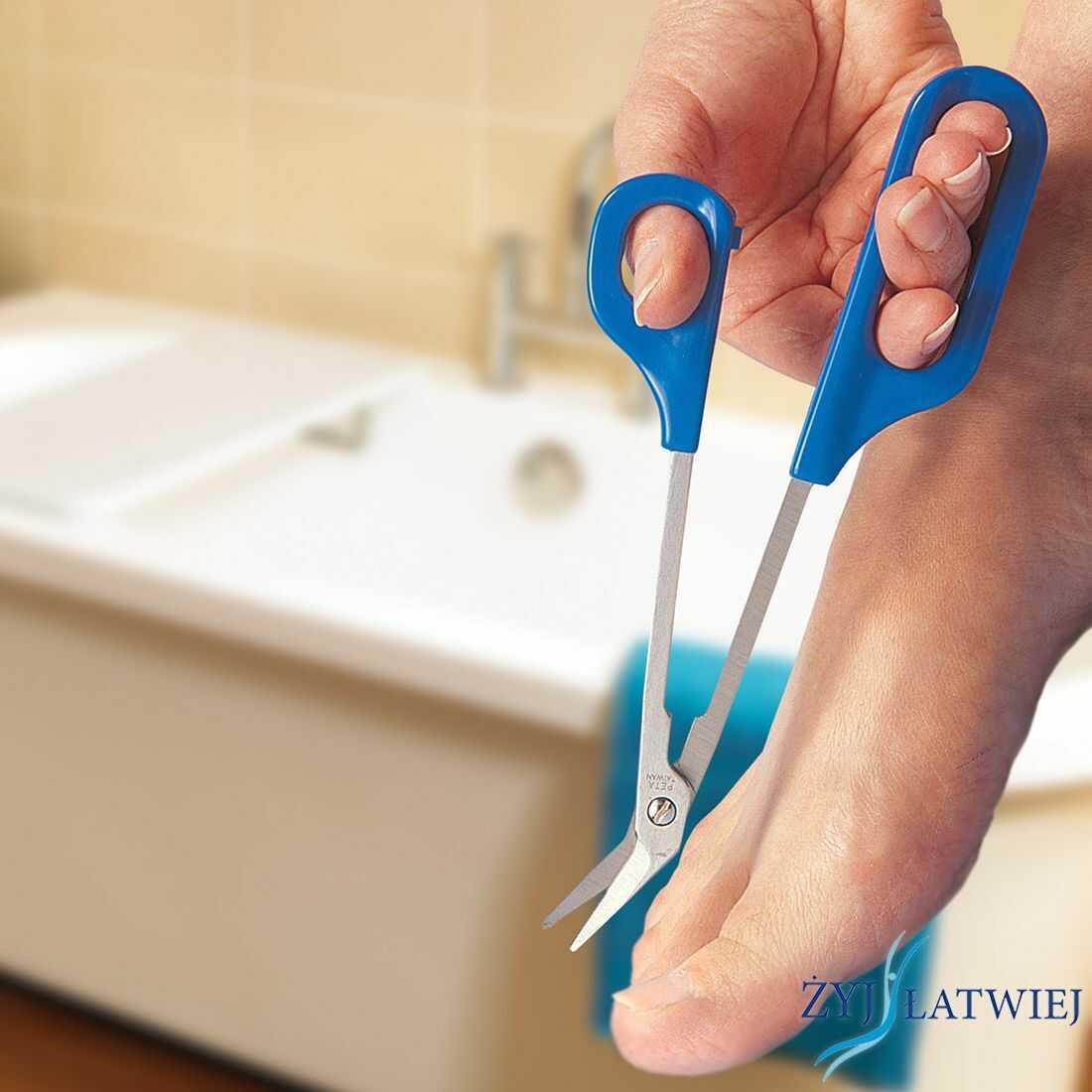 Nożyczki do paznokci u nóg na długiej rączce