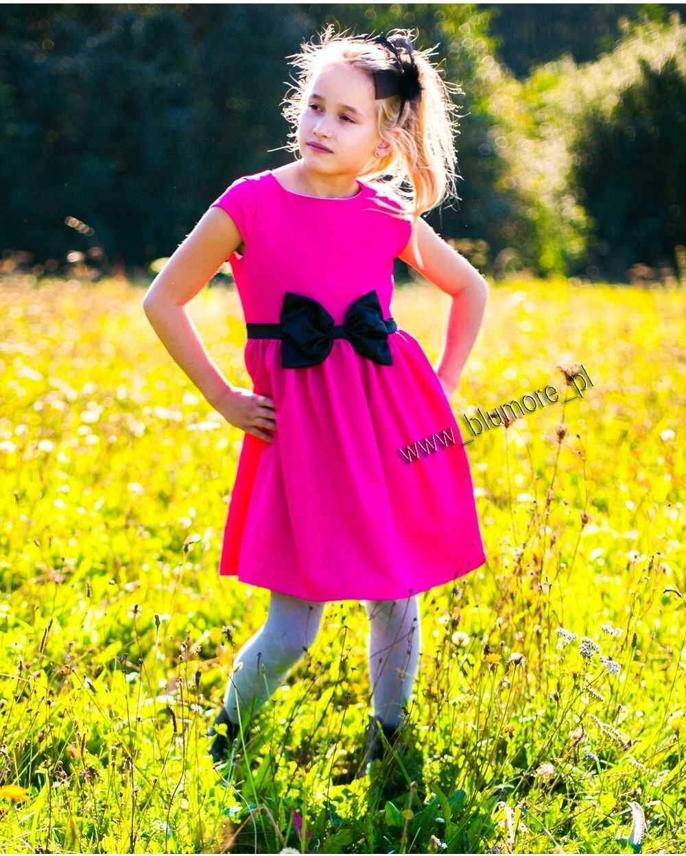 Sukienka na wesele dla dziewczynki 62 - 152 Ksenia fuksja