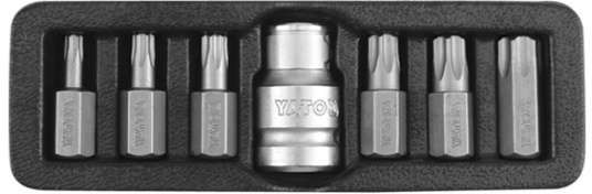 Końcówki wkrętakowe torx security, kpl. 7 szt. Yato YT-0416 - ZYSKAJ RABAT 30 ZŁ
