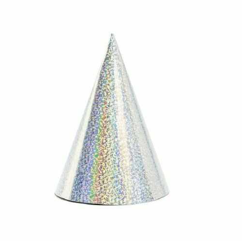 Czapeczki holograficzne srebrne, 6 szt.