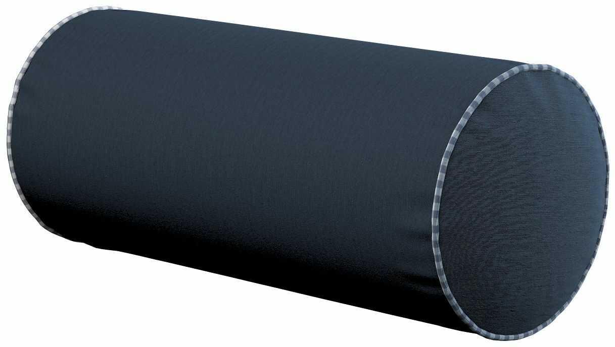 Poduszka wałek prosty, granatowy, Ø16  40 cm, Quadro