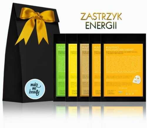 INTELLIGENT SKIN THERAPY PRO ZESTAW ZASTRZYK ENERGII - KOMPOZYCJA 5 MASEK NA EKO TKANINIE