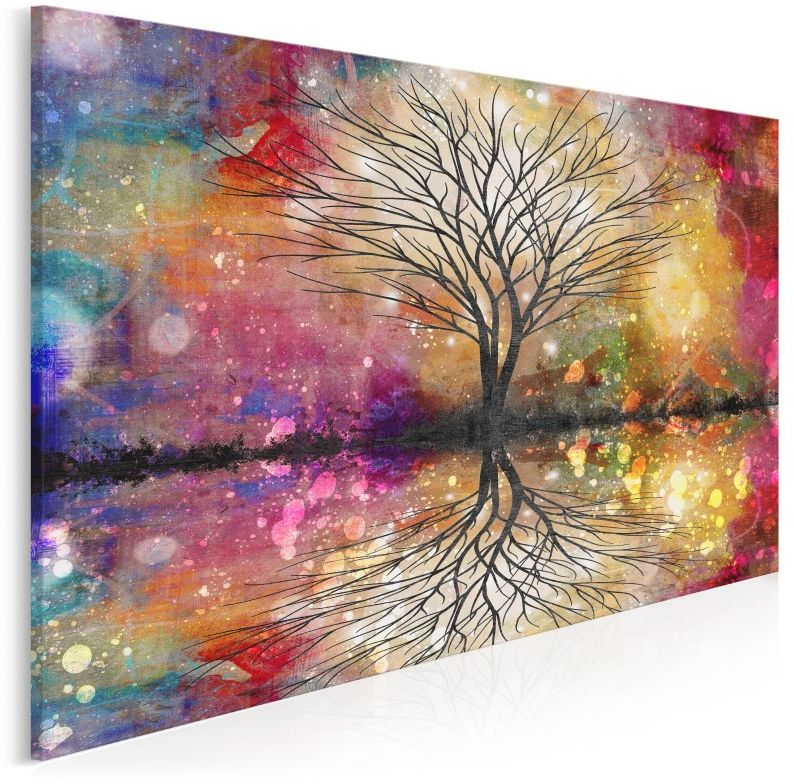 Leśne przepowiednie - nowoczesny obraz na płótnie - 120x80 cm