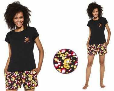 Piżama damska LEONA: czarny