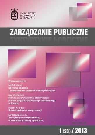 Zarządzanie Publiczne nr 1(23)/2013 - Ebook.
