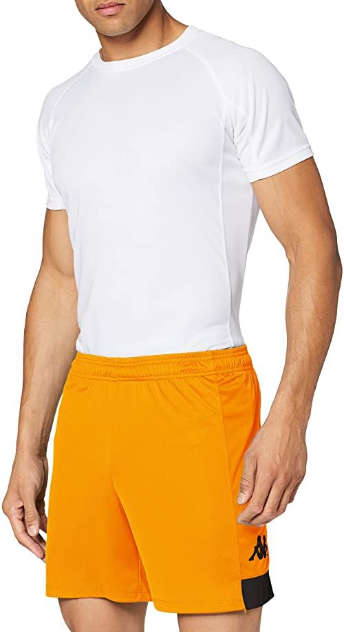 Kappa PAGGO spodnie treningowe, męskie, pomarańczowe/czarne, 2XL