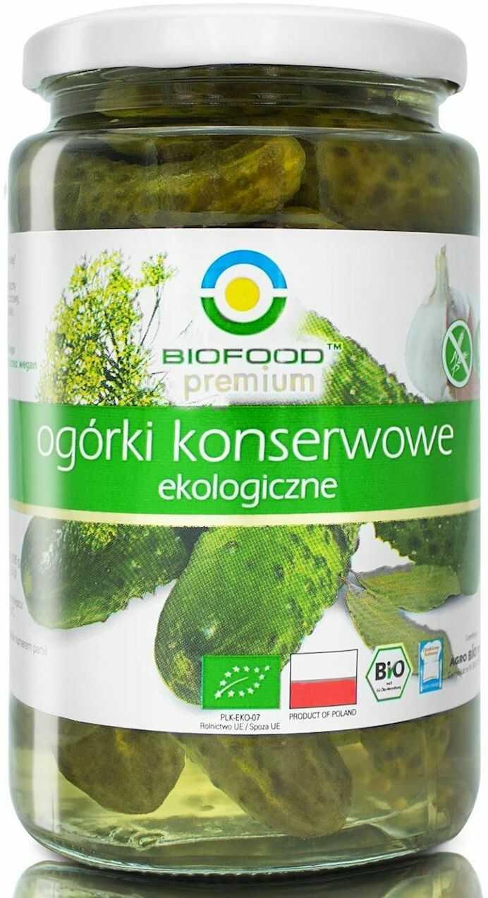 Ogórki Konserwowe bezglutenowe BIO 400g - Bio Food