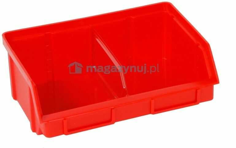 Pojemnik warsztatowy z polipropylenu standardowego, wym. 140 x 203 x 74 mm (Kolor czerwony)
