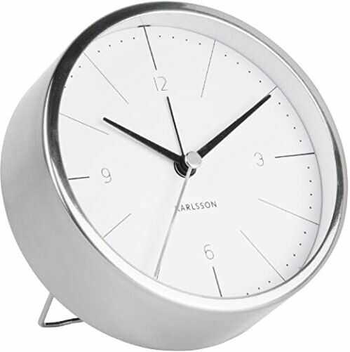 Karlsson Normann zegarek, zegar stołowy, stal, biały, jeden rozmiar