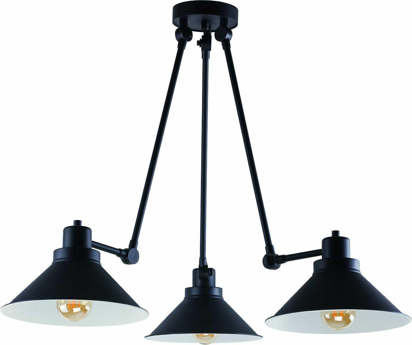 Plafon Techno 9142 Nowodvorski Lighting ruchoma potrójna czarna oprawa sufitowa
