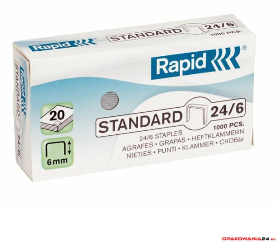 Zszywki Rapid Standard 24/6 1M, 1000 szt., 24855600