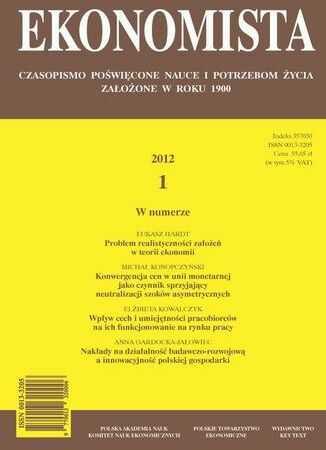 Ekonomista 2012 nr 1 - Ebook.