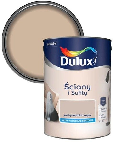 Farba Dulux Ściany i Sufity sentymentalna sepia 5 l