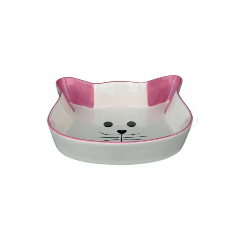 Trixie Miska ceramiczna w kształcie głowy kota 0,25l