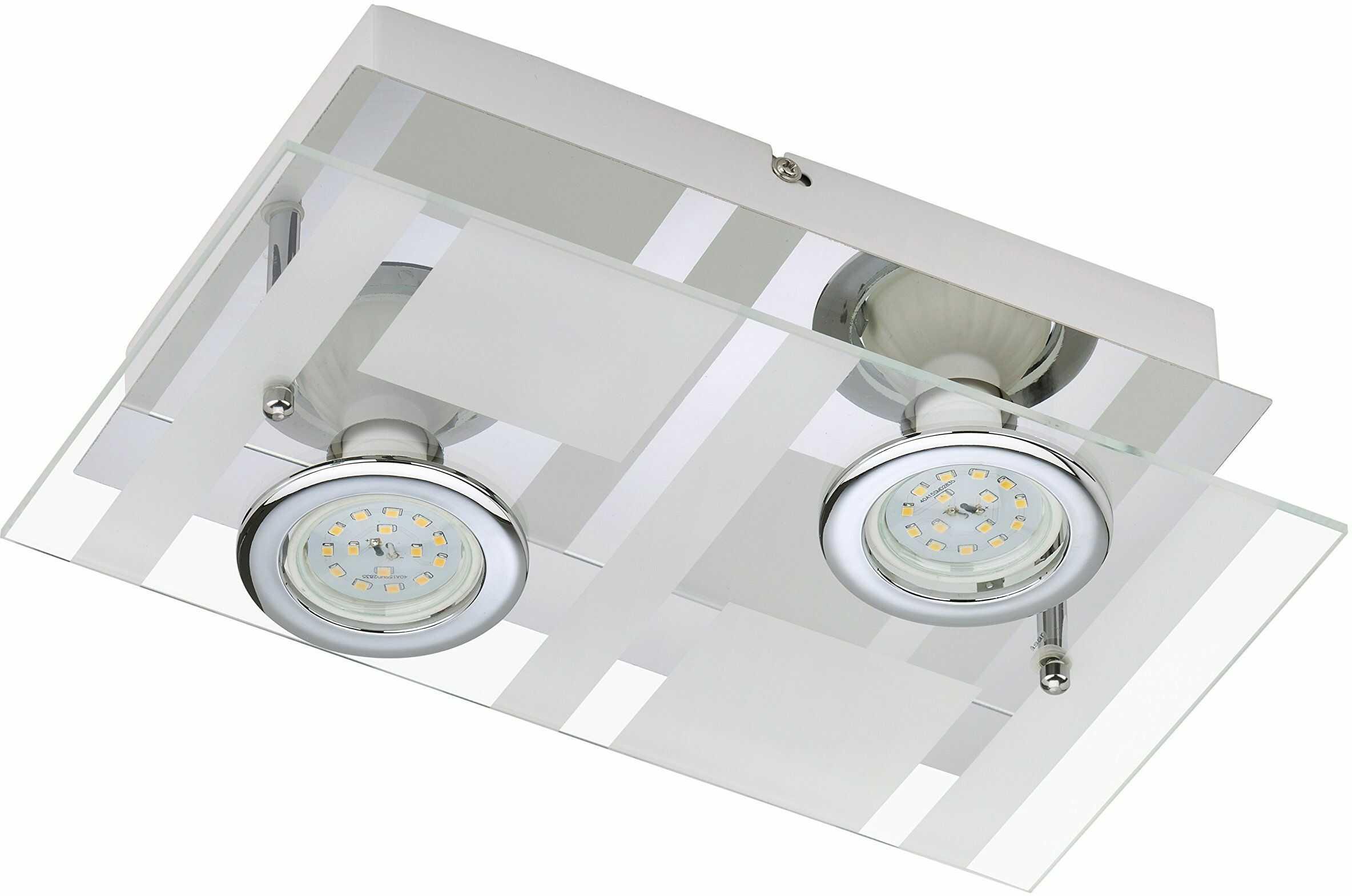 Briloner Leuchten Lampa ścienna LED 2 x 5 W, 400 lm, chrom 3551-028
