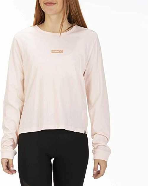 Hurley damskie W O&o Box Idealne L/S koszulki z długim rękawem Echo Pink XS
