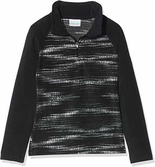 Columbia Sportswear dziewczęca kurtka polarowa Glacial II Fleece Print Half Zip kurtka polarowa, Black Diamond, XXS