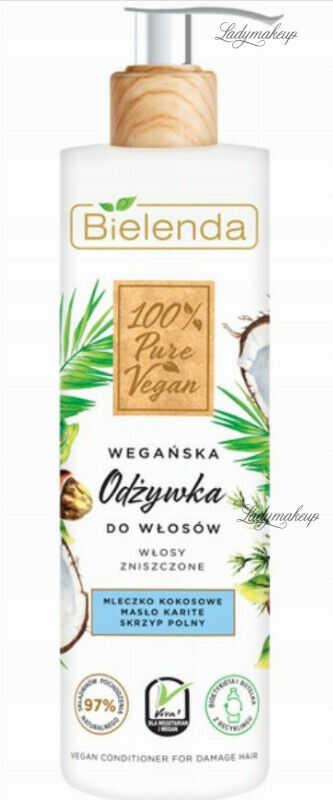 Bielenda - 100% Pure Vegan - CONDITIONER FOR DAMAGED HAIR - Wegańska odżywka do włosów zniszczonych - 240 ml